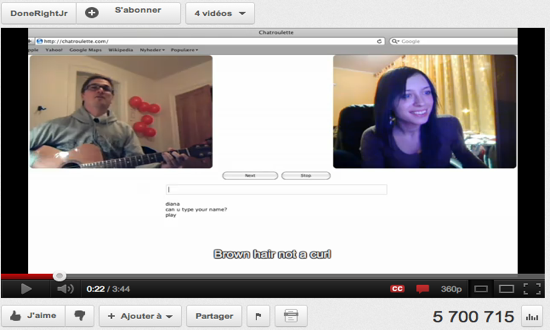 Chatroulette video 2 cam